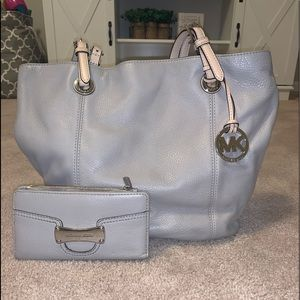 Gray MK Purse & Wallet